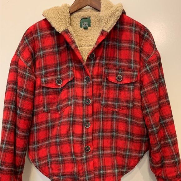 Wild Fable Sherpa flannel jacket small